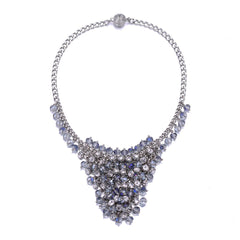 St. Tropez: Silver Chunky Necklace With Magna Clasp