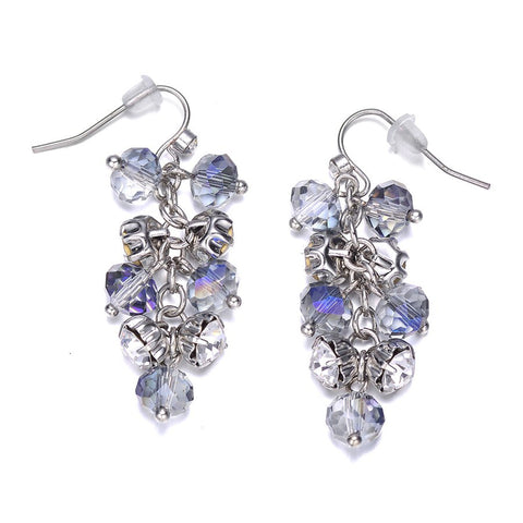 St. Tropez: Silver Dangling Earrings-Jewels to Jet-Magnetic Clasp Jewelry