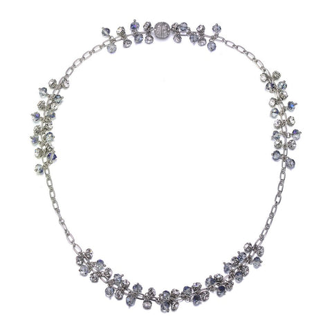 St. Tropez: Silver Long Necklace With Magna Clasp-Jewels to Jet-Magnetic Clasp Jewelry