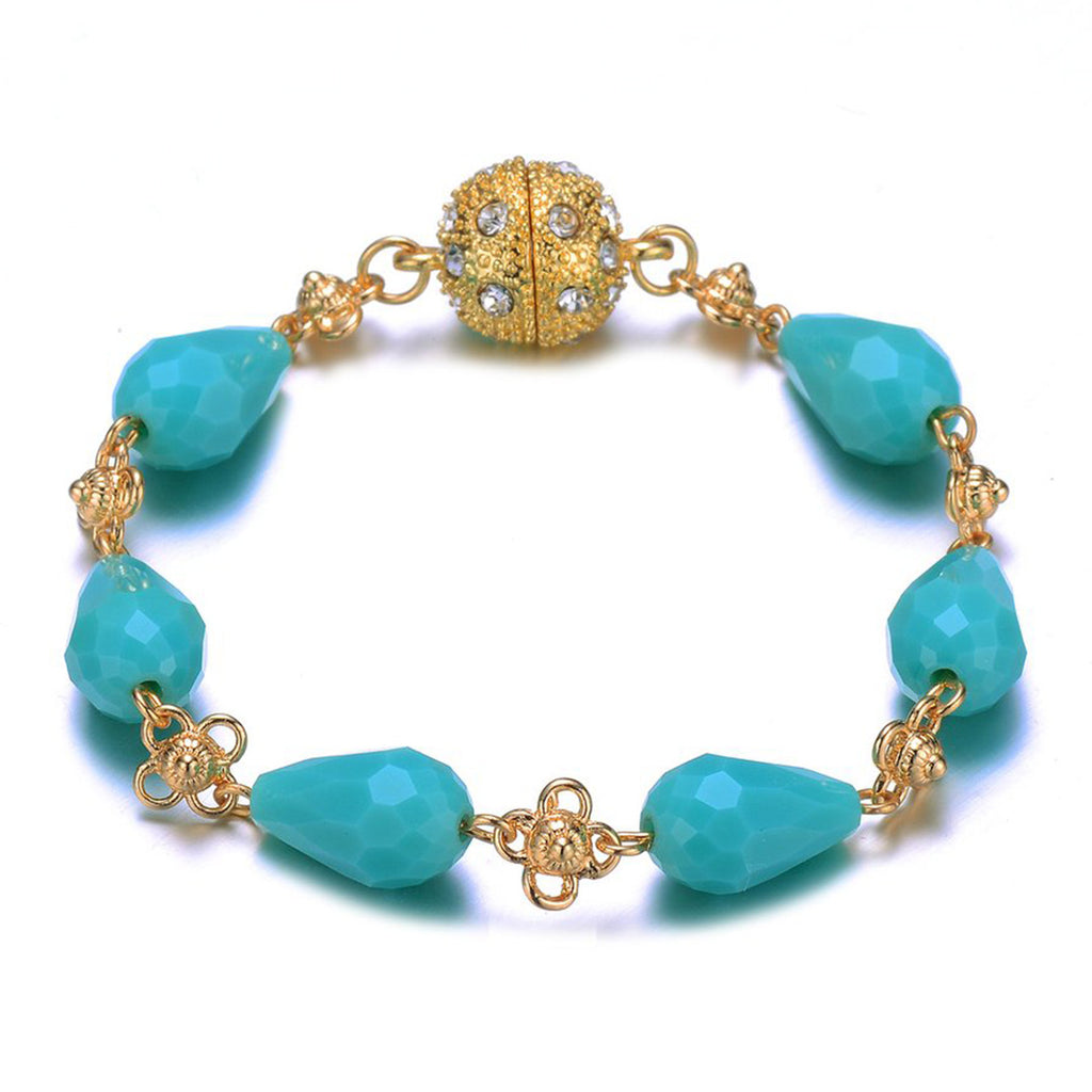 Amrita Sen Palace: Gold Turquoise Bracelet - Jewels to Jet