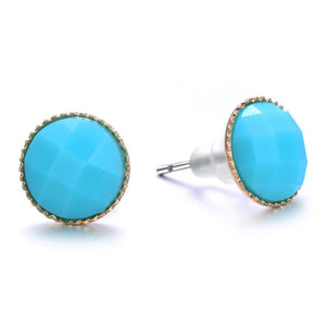 Amrita Sen Palace: Turquoise Stud Earrings-Jewels to Jet-Magnetic Clasp Jewelry