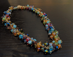 Monet: Colorful Chunky Necklace
