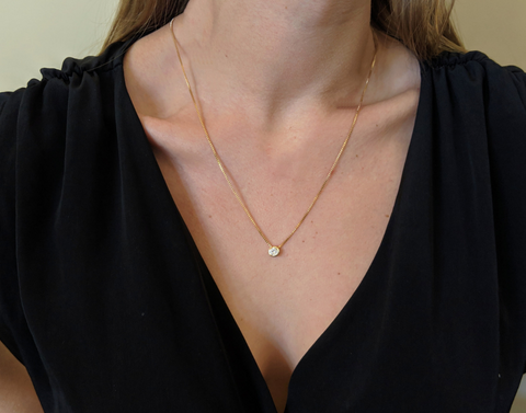 Allure: Long Simple Gold Necklace-Jewels to Jet-Magnetic Clasp Jewelry