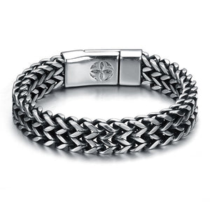 Wolverine Bracelet Silvertoned Men's or Unisex-Jewels to Jet-Magnetic Clasp Jewelry