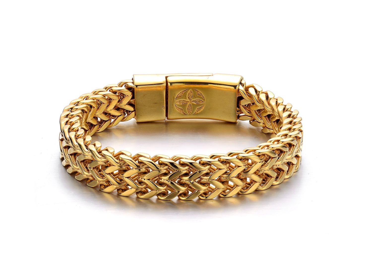 Wolverine Bracelet Goldtoned Men's or Unisex-Jewels to Jet-Magnetic Clasp Jewelry