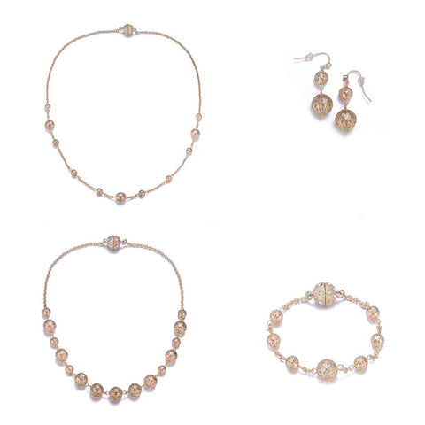 Ceremony 5 Piece Jewelry Set By Amrita Sen-Jewels to Jet-Magnetic Clasp Jewelry