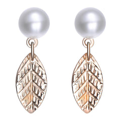 Amrita Sen MagnaClasp Cosmic Love: Pearl & Gold Stud Earrings