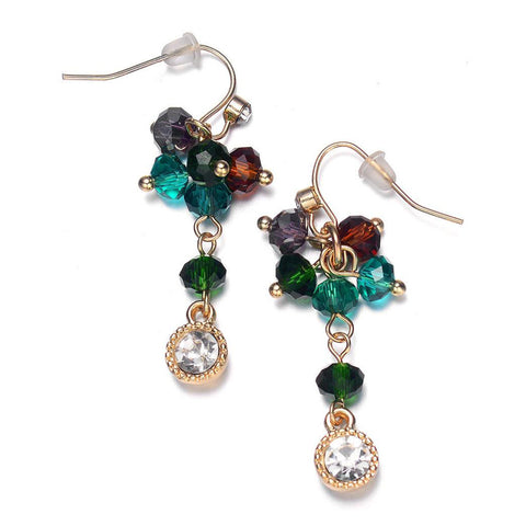 Lyric: Green / Dark Topaz Earrings-Jewels to Jet-Magnetic Clasp Jewelry