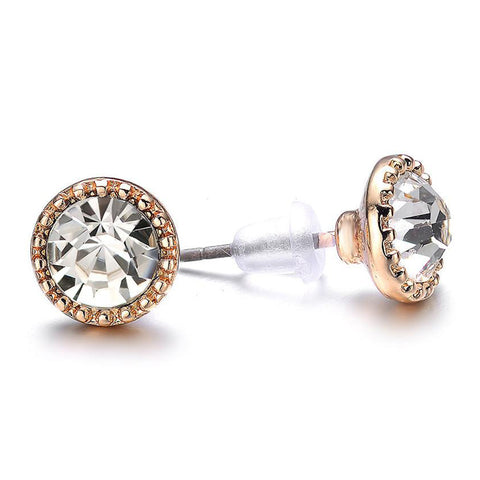 Lyric: Green / Dark Topaz Stud Earrings - Jewels to Jet