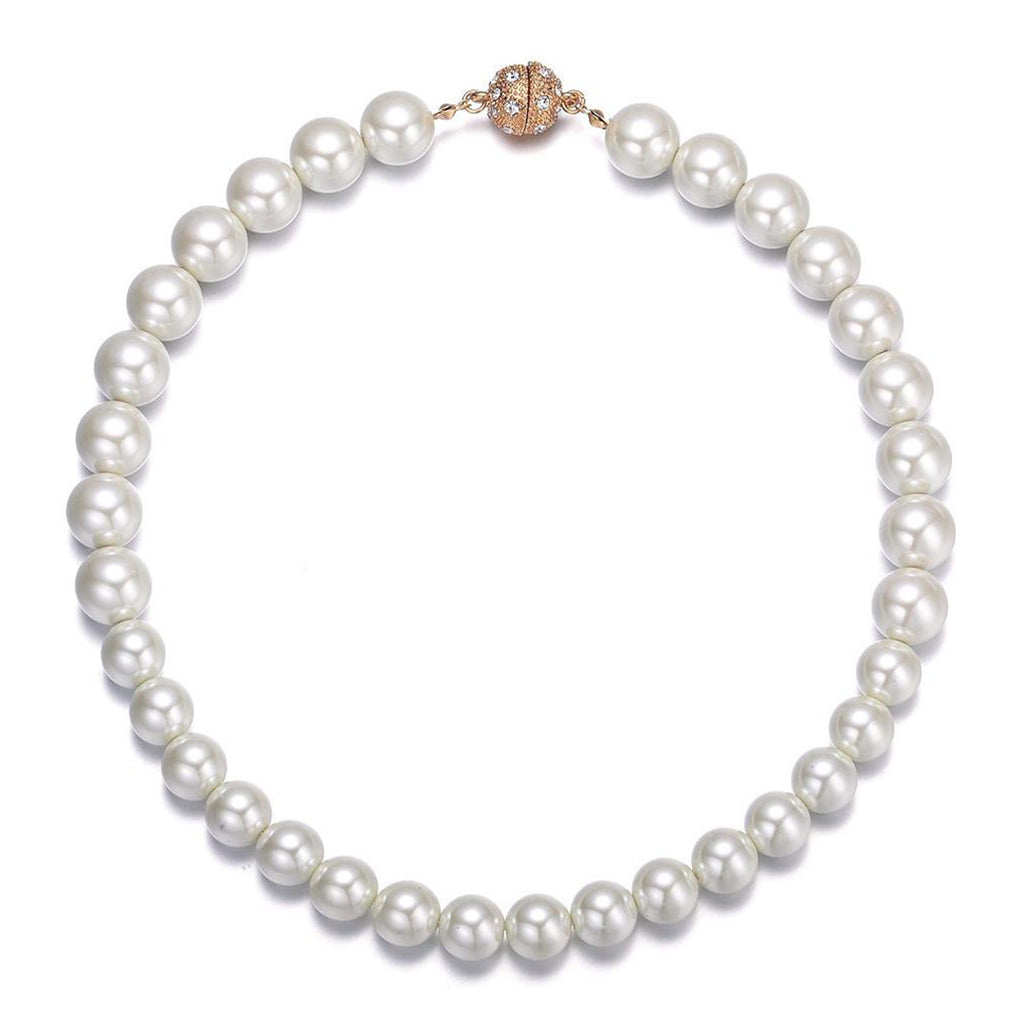 Bali: Pearl Necklace With Magna Clasp-Jewels to Jet-Magnetic Clasp Jewelry
