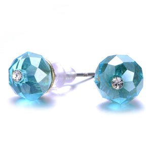 New Monet: Colorful Crystal Stud Earrings-Jewels to Jet-Magnetic Clasp Jewelry