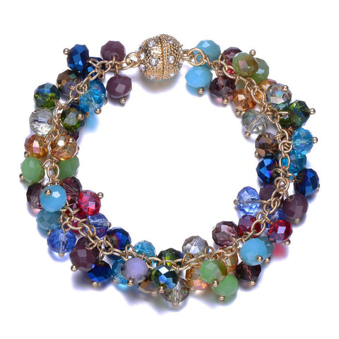 New Monet: Colorful Bracelet With Magna Clasp-Jewels to Jet-Magnetic Clasp Jewelry