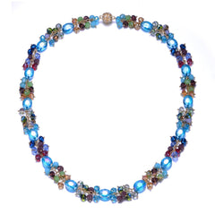 New Monet: Colorful Long Necklace With Magna Clasp