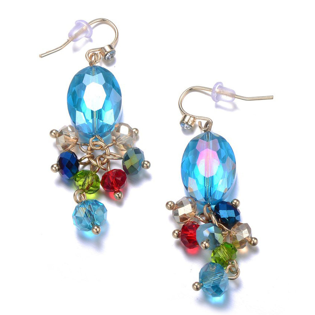 New Monet: Colorful Drop Earrings-Jewels to Jet-Magnetic Clasp Jewelry