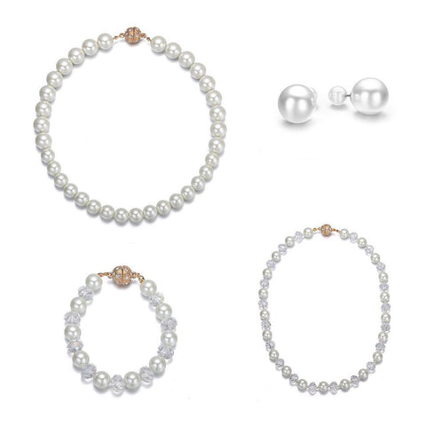 Bali: 4 Piece Pearl Jewelry Set With Magna Clasp - Jewels to Jet