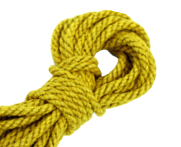 Spot of Delight Hemp 6 mm Rope - Yellow / 15 ft Rope - Spot of Delight - 5