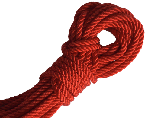 Spot of Delight Nylon 6 mm Rope - Scarlet / 15 ft Rope - Spot of Delight - 1