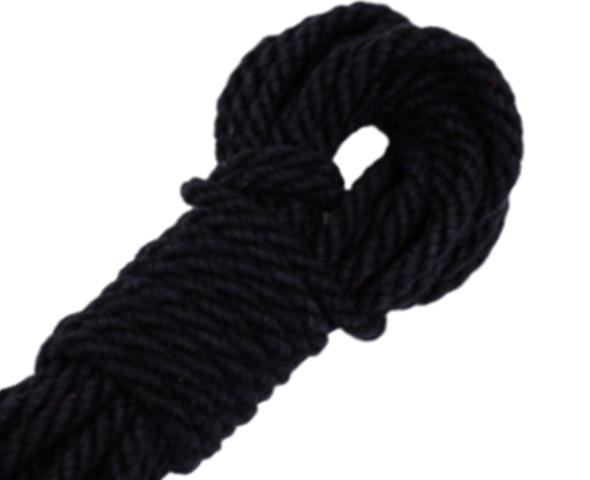 Spot of Delight Hemp 6 mm Rope - Black / 15 ft Rope - Spot of Delight - 4