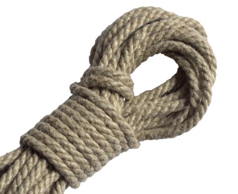 Spot of Delight Hemp 6 mm Rope - Natural / 15 ft Rope - Spot of Delight - 1
