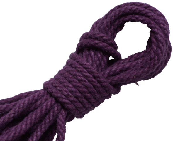 Spot of Delight Hemp 6 mm Rope - Purple / 15 ft Rope - Spot of Delight - 3