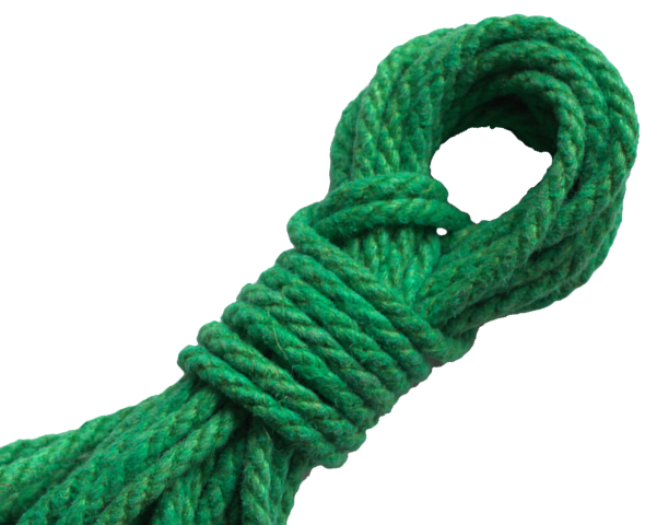 Spot of Delight Hemp 6 mm Rope - Green / 15 ft Rope - Spot of Delight - 9
