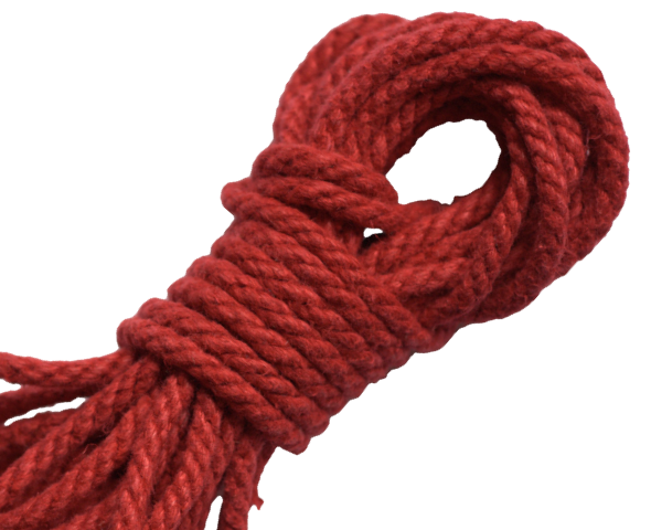 Spot of Delight Hemp 6 mm Rope - Scarlet / 15 ft Rope - Spot of Delight - 7