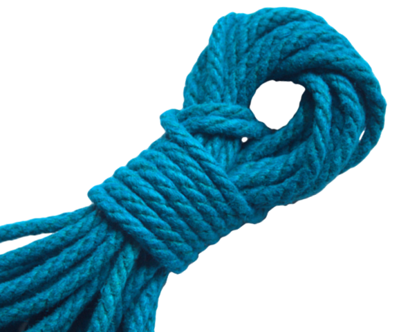 Spot of Delight Hemp 6 mm Rope - Turquoise / 15 ft Rope - Spot of Delight - 6