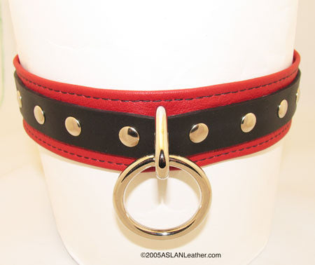 Aslan Leather Red Leather Cumfy Collar -  Collars - Spot of Delight