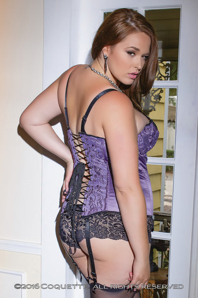Coquette Lilac Satin Bustier -  Corsets - Spot of Delight - 3