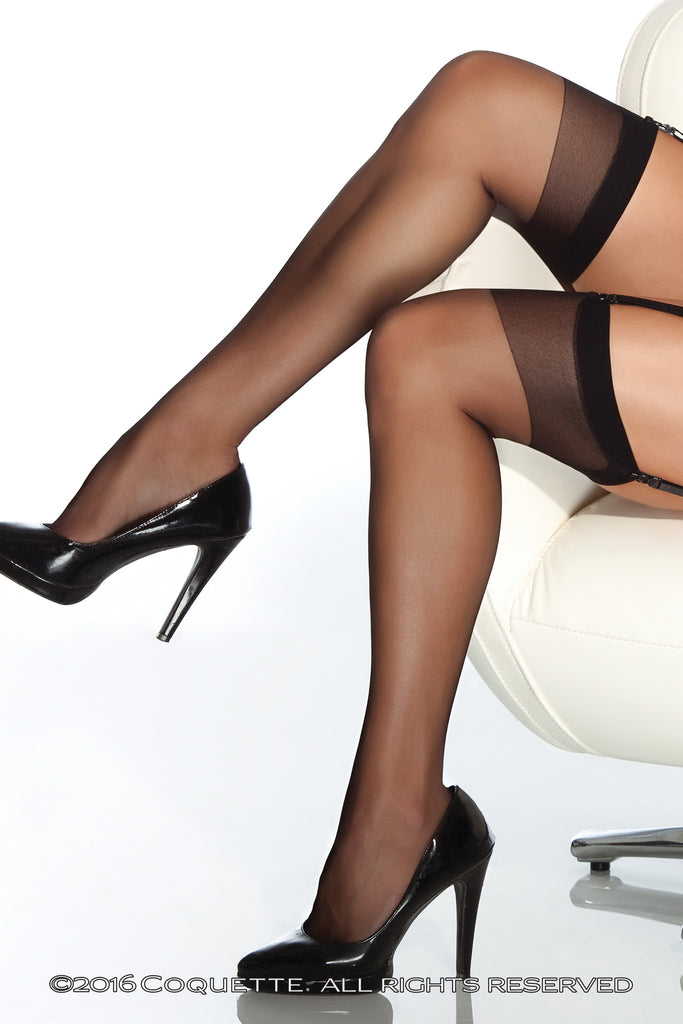 Coquette Classic Sheer Stockings -  Stockings - Spot of Delight - 1