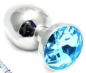 Dream Toys Jewel Plug - Large - Blue Sapphire Plugs - Spot of Delight - 1