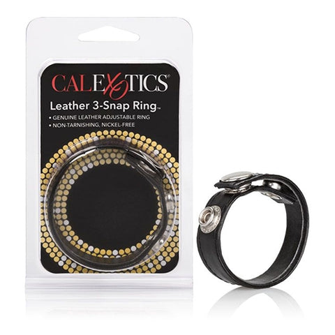Leather 3-Snap Ring