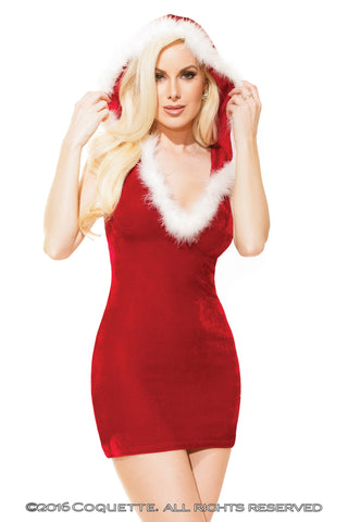 Coquette Hooded Santa Dress - L Holidays - Spot of Delight - 1