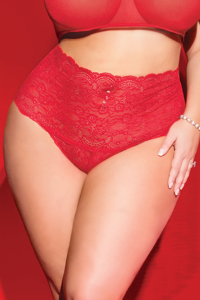 CROTCHLESS HIGH WAISTED PANTY XL