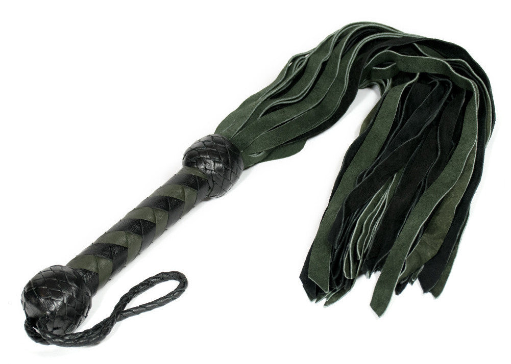 E.D. Suede Flogger - Dark Green Floggers - Spot of Delight - 1