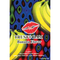 Trustex Flavoured Latex Dental Dam - 1 PK / Banana Dental Dam - Spot of Delight - 4