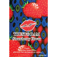 Trustex Flavoured Latex Dental Dam - 1 PK / Strawberry Dental Dam - Spot of Delight - 2