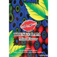 Trustex Flavoured Latex Dental Dam - 1 PK / Mint Dental Dam - Spot of Delight - 1