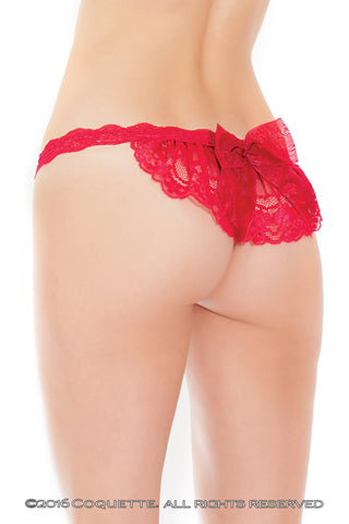 Coquette Merlot Panty -  Panties - Spot of Delight - 1