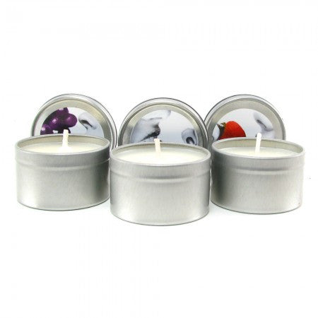 Earthly Body Threesome Edible Massage Candles -  Massage - Spot of Delight