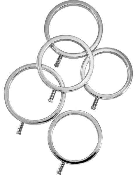 ElectraStim ElectraRings Cock Rings - 5 PK Estim Attachments - Spot of Delight - 3