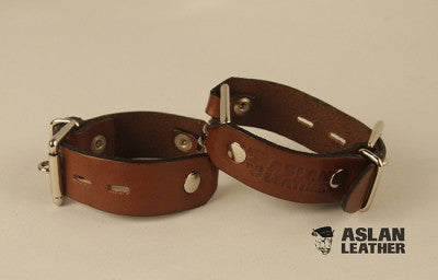 Aslan Leather Tan Leather Handy Cuff -  Wrist Cuffs - Spot of Delight - 2