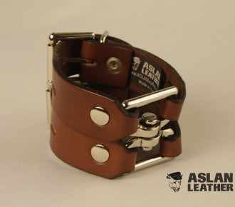 Aslan Leather Tan Leather Handy Cuff -  Wrist Cuffs - Spot of Delight - 1