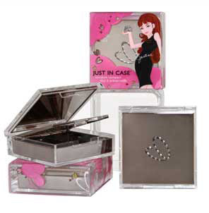 Just In Case Metal Condom Compact - Silver Condom Compacts - Spot of Delight - 7