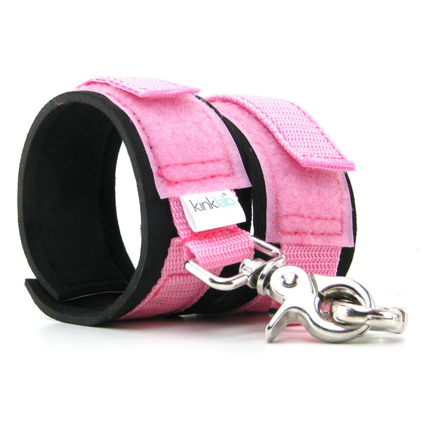Kink Lab Neoprene Cuffs - Pink Wrist Cuffs - Spot of Delight - 1