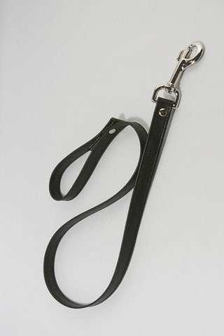 Aslan Leather Black Leather Leash -  Leash - Spot of Delight
