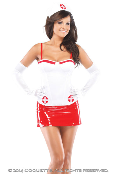 Coquette Naughty Nurse Bustier -  Halloween - Spot of Delight - 1