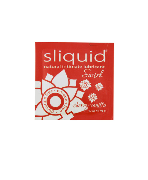 Sliquid Swirl Flavoured Lubricant - Cherry Vanilla / Pillow Pack 5 mL Lubricants - Spot of Delight - 4