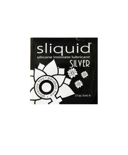 Sliquid Silver Silicone Lubricant - 5 mL Lubricants - Spot of Delight - 2