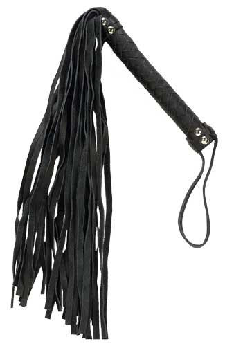"Punishment Black Leather 26"" Flogger -  Floggers - Spot of Delight"